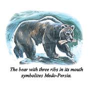 The bear with three ribs in its mouth symbolizes Medo-Persia