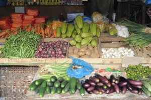 colorful fresh vegetables on Bantayan Island