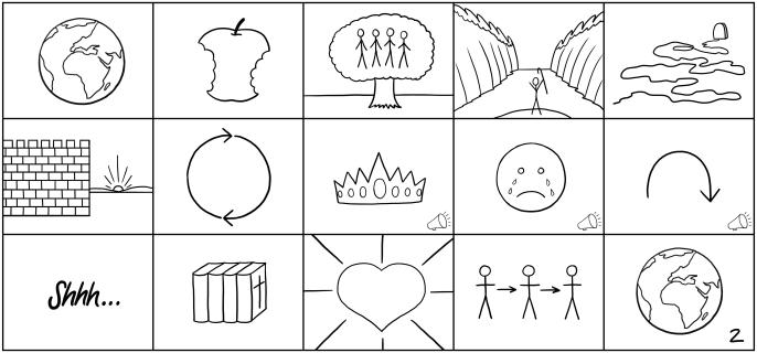 The Bible StoryBoards Simple Drawings
