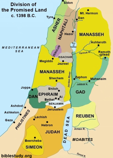 Division of Promised Land to the Children of Israel