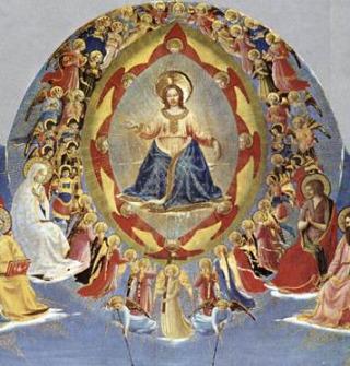 Jesus cercado por querubins