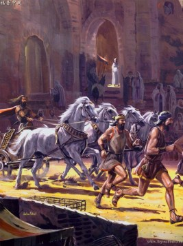 Absalom appears important by having 50 men run alongside his chariot