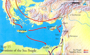 Invasion of the Sea Peoples. For further information see http://wysinger.homestead.com/seapeople.html