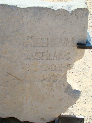 This inscription found in the theatre at Caesarea includes the name of Pontius Pilate