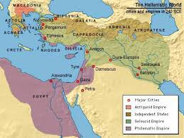 Violent conflict between Jews and Greeks erupted in many of the cities found on this map