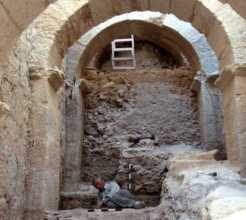 The entryway recently uncovered at Herodium.