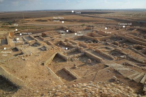 This photo also from biblewalks.com provides a nice overview of some of the important places at Tel Beersheba.