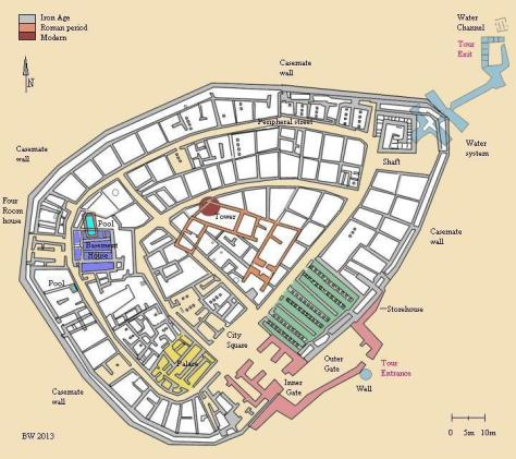 Bible Walks has helpfully provided a plan of the city, showing it's significant structures. For more info go to http://www.biblewalks.com/Sites/TelBeerSheba.html