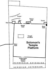 This diagram shows the size and position of Solomon's Temple Mount, according to Ritmeyer in his book, Secrets of Jerusalem's Temple Mount. It also shows how it was expanded by the Hasmoneans and Herod.