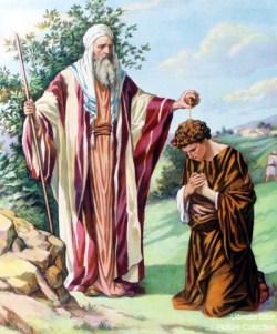 Samuel anoints Saul.