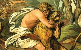 Samson's riddle which involves honey in the carcass of a lion, uses wordplay.
