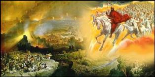 The battle of Armageddon is pictured in the Book of Revelation as the final battle where God defeats evil.