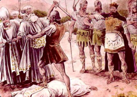 When Saul slaughtered the priests at Nob, Abiathar managed to escape with the ephod and flee to David (1 Sam. 23:6)