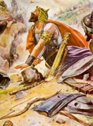 Saul falls on sword