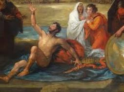 Saul removes his clothing