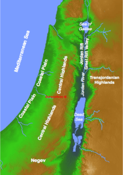 The Israelite diet is partially determined by geography