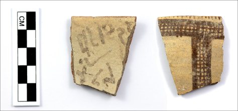 Ostraca with alphabet's missing link