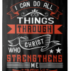 Tapestry with Bible verse I can do all things through Christ who strengthens me