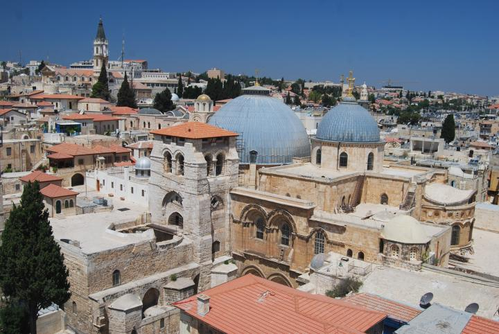 View of the Holy Sepulcher from the east side