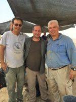 David-Ben Shlomo , Shay Bar, and Ralph K. Hawkins at 'Auja el-Foqa.