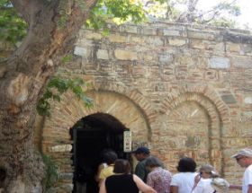 Entrance of House of Virgin Mary in Ephesus