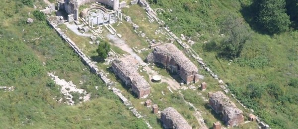 The Double Church of Ephesus Aerial Photo