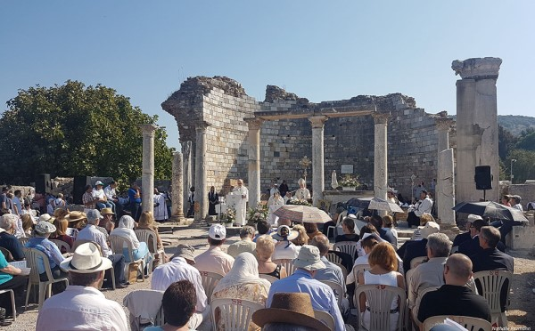Theotokos was Celebrated at the Council Church also known as the Double Church in Ephesus
