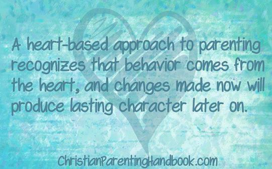 A heart-based approach to parenting recognizes that behavior comes from the heart, and changes made now will produce lasting character later on. The Christian Parenting Handbook | Amazon Affiliate Link