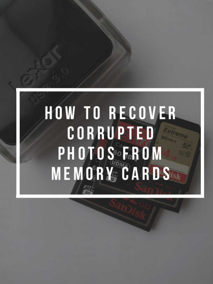 How to recover corrupted photos from memory card
