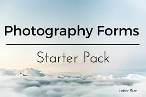Ltr Photograhpy Forms-Starter Pack