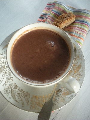 Spiced Hot Chocolate - made with real chocolate