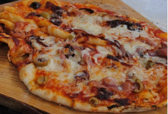 Firehouse Bakery Bread School - pizza from the woodfired oven