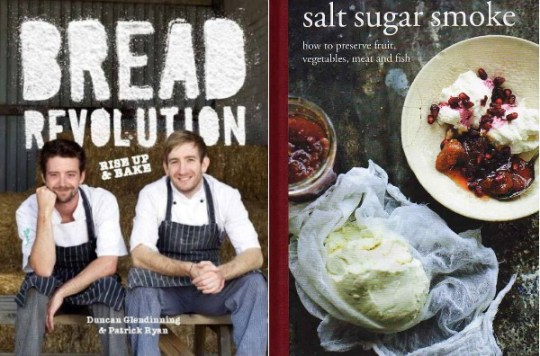 Bread Revolution by Duncan Glendinning & Patrick Ryan, Salt Sugar Smoke by Diana Henry