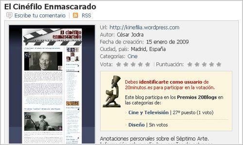 Ficha técnica de El Cinéfilo Enmascarado.