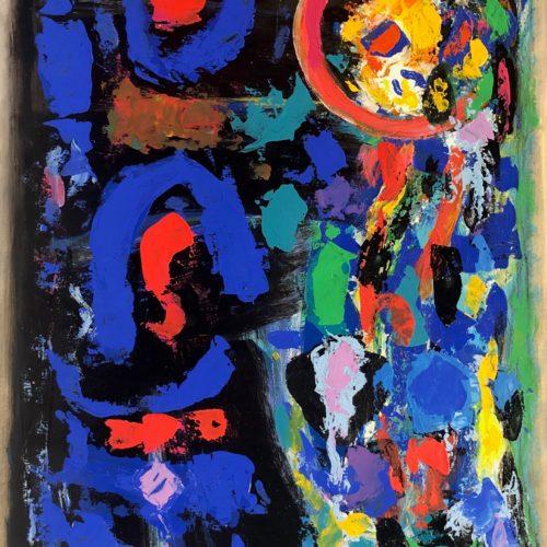 G.Monguzzi, Segni misteriosi 1 - 2010 50x70