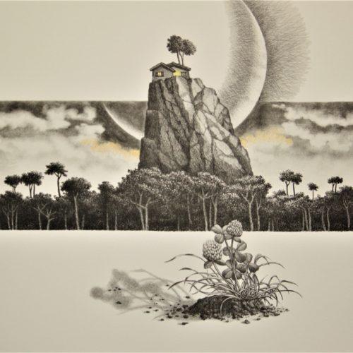 G.Mottinelli, La casa dello sciamano - 2000-08 70x50 cm