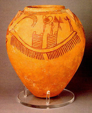 Fig. 3(c) - Gerzean Vase with Ship (c. 3500 BC)