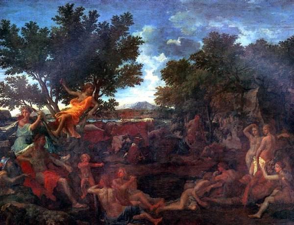 Картины Пуссена в Лувре. Живопись картины из музея Лувр, Париж