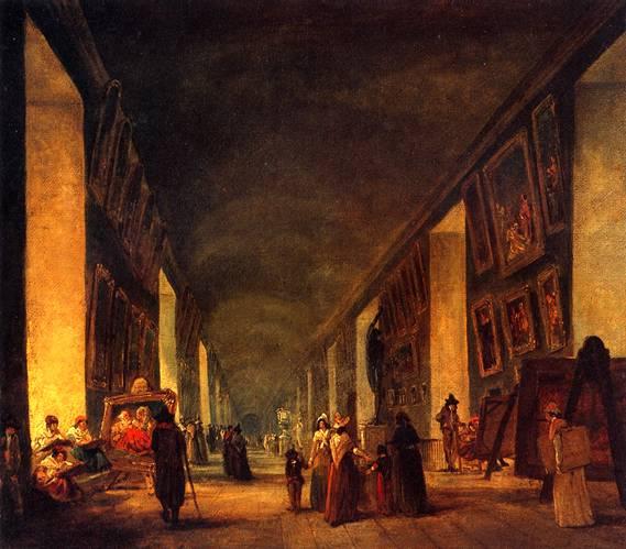 Лувр. РОБЕР ЮБЕР Большая галерея Лувра между 1794-1796 гг.