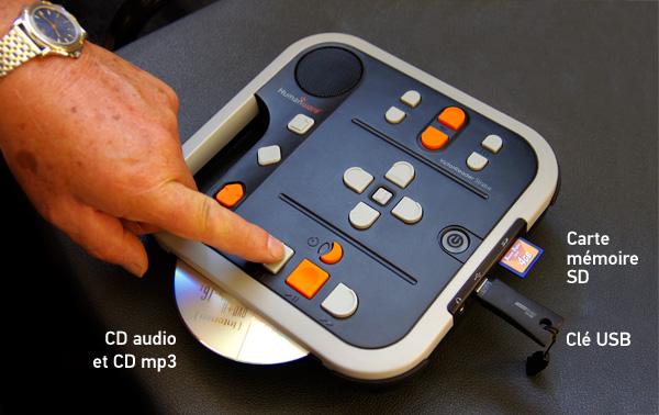 un lecteur de cd adapte pour les aveugles malvoyants et deficients visuels le victor stratus