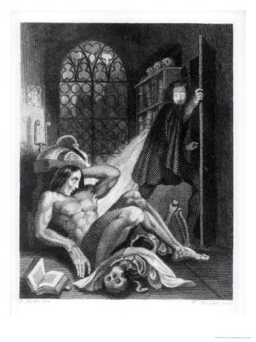 Illustration from Mary Shelley's Frankenstein