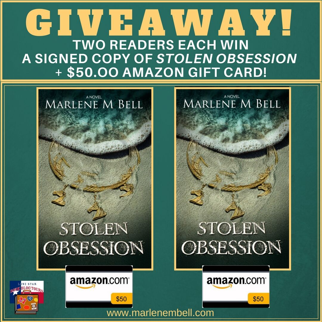 Guest Post by Stolen Obsession author Marlene M. Bell – with Giveaway