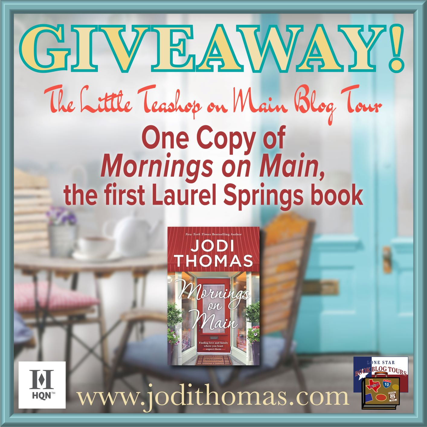 Review: The Little Teashop on Main by Jodi Thomas – with Giveaway