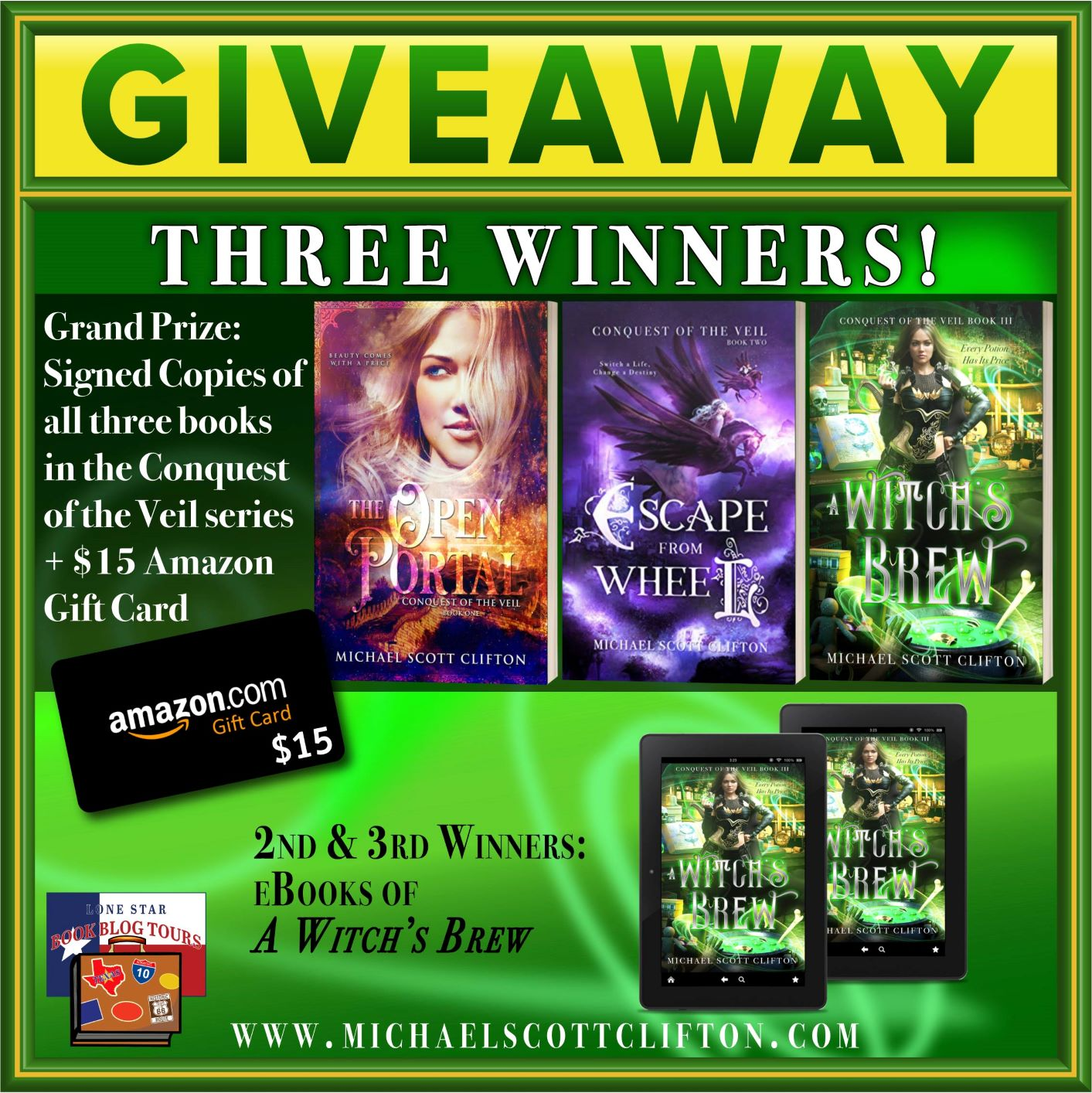 Review & Giveaway: A Witch's Brew, by Michael Scott Clifton