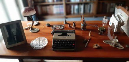 La scrivania personale di Leonardo Sciascia