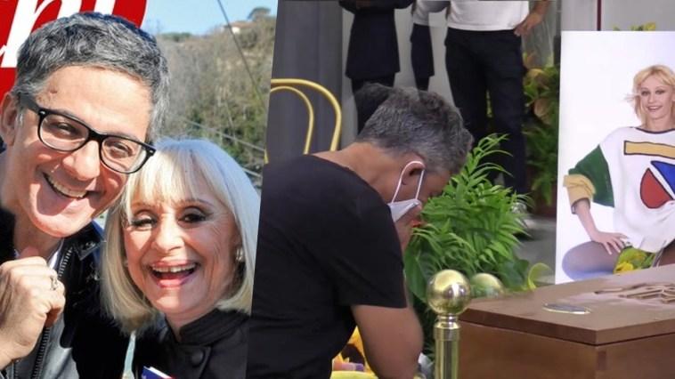 """Fiorello si commuove per l'ultimo saluto a Raffaella Carrà: """"Eccola qui, la regina"""""""