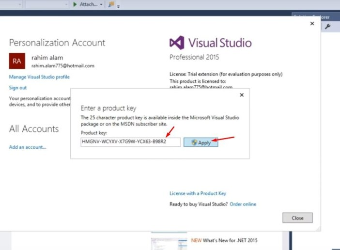 Visual Studio serial Pic 17