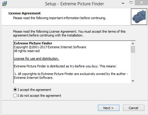 extreme picture finder key