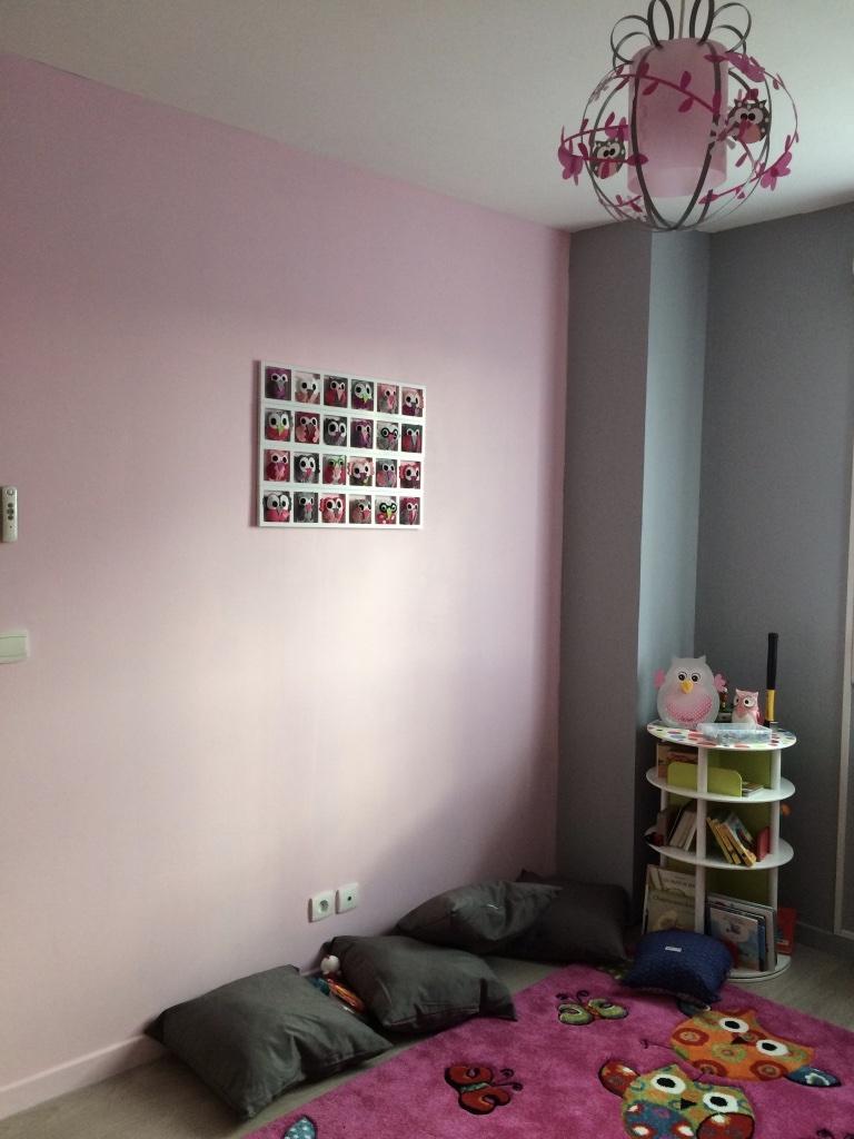 deco murale chambre fille famille hiboux tons rose gris blanc bichat 084