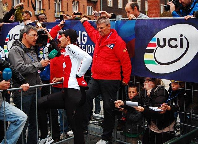 Fabian Cancellara posle hronometra u Kopenhagenu